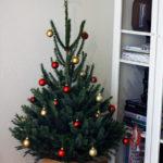 Juletræ med pynt