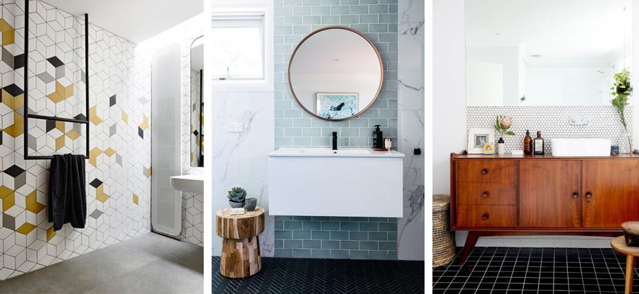 Jeg finder lidt inspiration til smukke fliser til badeværelse ...