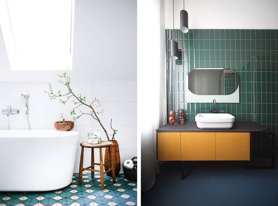 Hvilke fliser har I på jeres badeværelser?