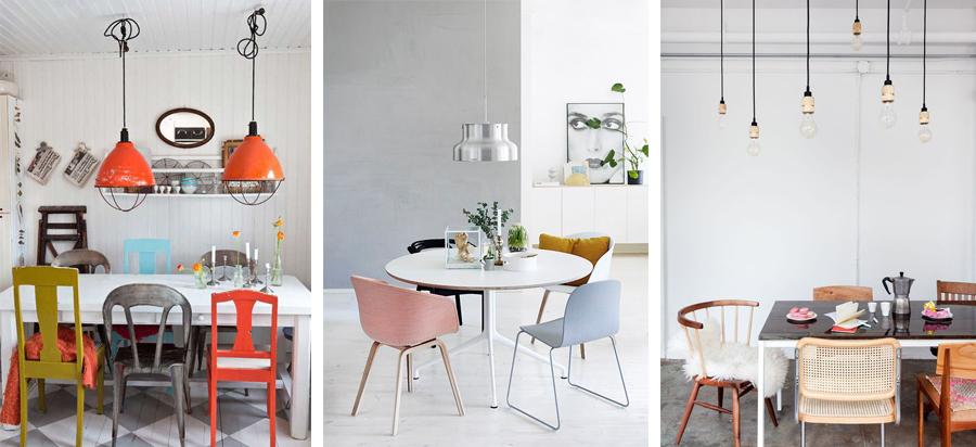 spisebord med forskellige stole-1