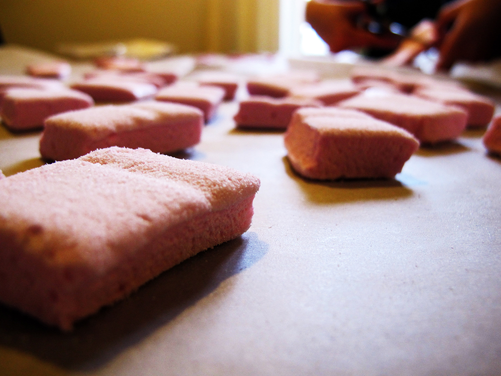 færdiglavet hjemmelavede skumfiduser