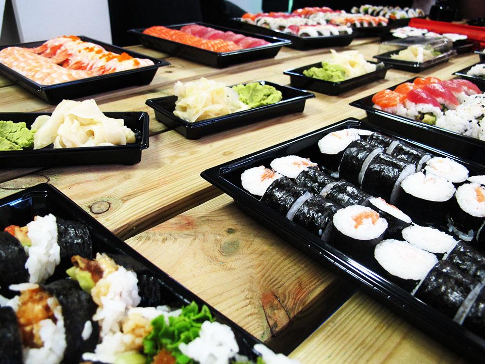 sushi fra århusiansk, til blogger event