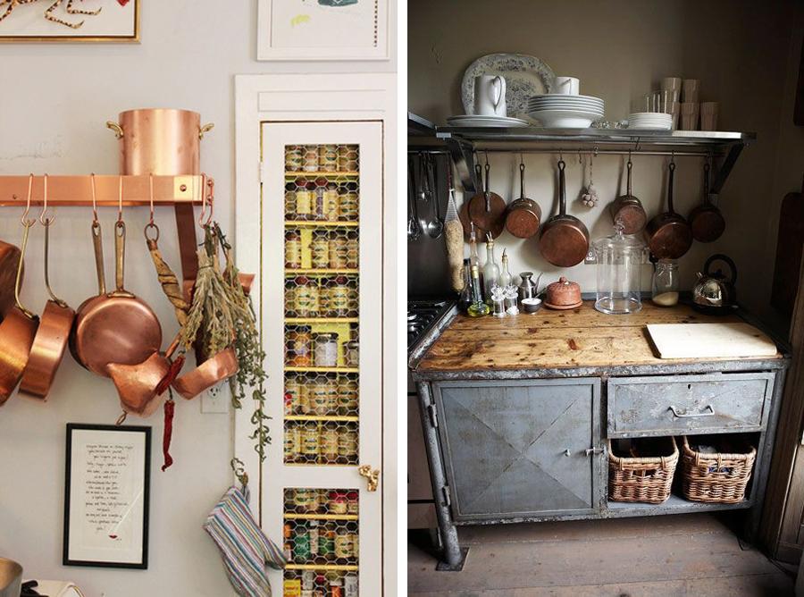 Kobbergryder og pander er bare noget så dekorative!