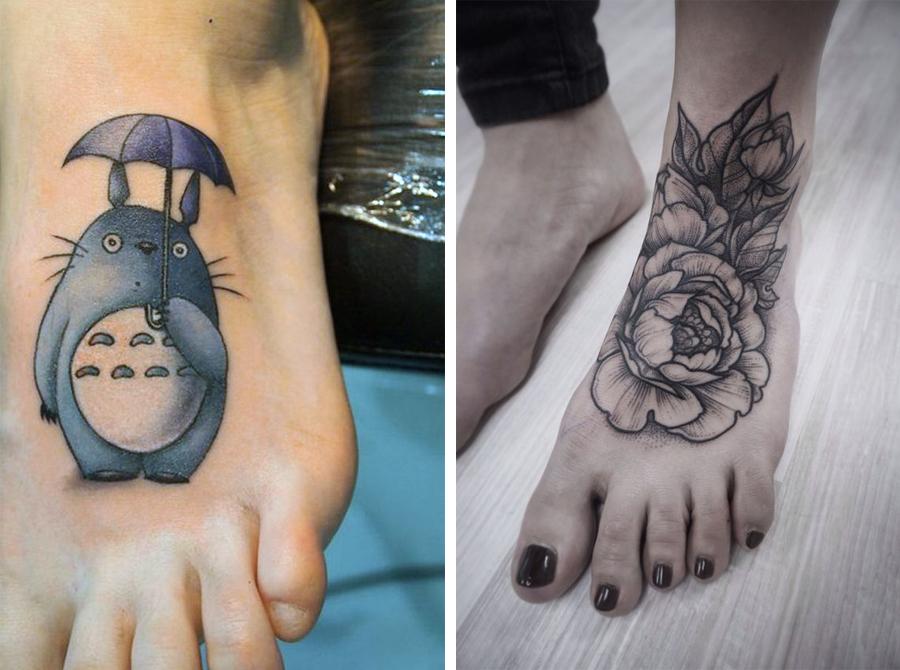 tatovering på foden